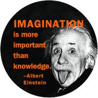 einstein, imaginasi, pengetahuan